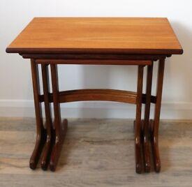 G Plan 1960s teak nested tables