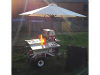 American Hot Dog Cart. Hot Dog Stall. Ready To Trade