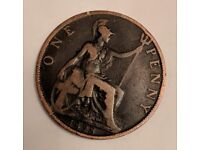 Victorian Penny coin