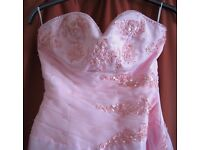 Pink dress size 12. Perfect for prom/bridal/evening wear. £20 ono. Eastbourne BN22 area
