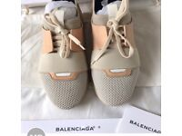 BALENCIAGA women's size 7 Trainers beige nude