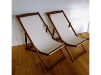 Pair of deckchairs used very rarely so in great condition