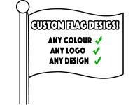 Custom Flag / Banner Printing - Personalised - Any Design