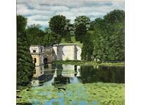 Blenheim Palace Bridge 12 x 12 inch Giclee limited edition print Giclee limited editi