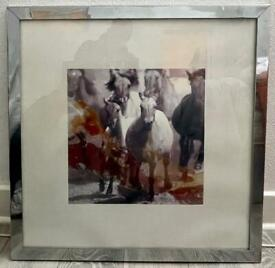 Beautiful metal framed horse picture