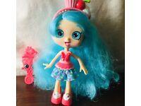 "Shopkin ""Shoppie"" doll and several accessories"