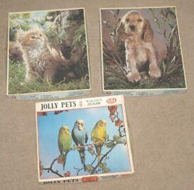 3 Vintage Philmar Jigsaw Puzzles