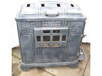 Godin No 250 'Chauffette Mixte', c1937 Art Deco Vintage, Dual Fuel Stove, Woodburner