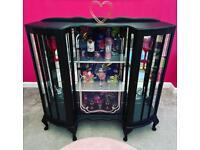 Large Bespoke Vintage Gin Cocktails Drinks Display Cabinet