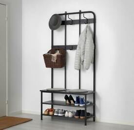 Coat Rack With Shoe Storage Bench