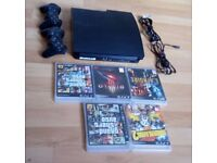 PS3 Slim - 300GB - 2 controllers. - 6 Games - Wires included - Excellent condition