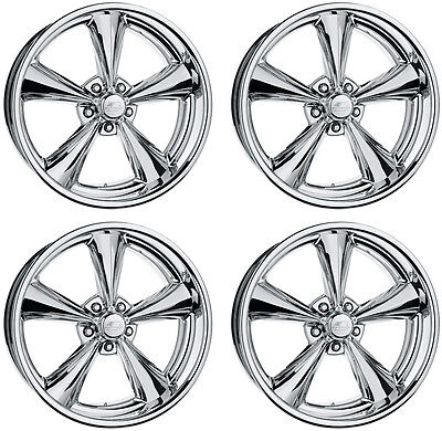 "NEW 17x7"" BILLET SPECIALTIES MAG WHEEL SET,LEGENDS SERIES,POLISHED,5 X 4.5"",4"""