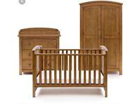 Silver Cross Walnut Ashby Furniture Set