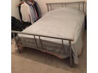 Metal double bed plus mattress