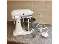 Classic KitchenAid Food Mixer with Attachments + Extra Glass Mixing Bowl