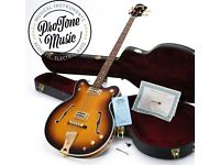Gretsch G6072-1958 Japanese Hollow Body Bass Vintage Sunburst & Gretsch Case & Certificate