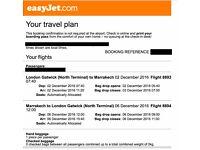 Flight ticket to Morocco 2-5 December 2016