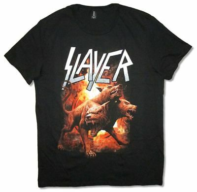 Slayer 3 Headed Dog Black T Shirt New Official Band Merch Cerberus - Cerberus 3 Headed Dog