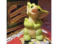 Pocket Dragon Figurine - 1997 'Why?' - new in box