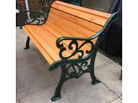 Cast Iron solid Garden bench Flur-De-lis style