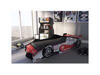 Formula 1 racing car single bed