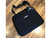 Samsonite Laptop Briefcase Multi Pocket Organiser Shoulder Bag in Black 15 / 17""