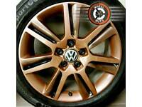 "17"" Genuine Audi alloys Caddy Golf refurb bronze/black excel cond premium tyres."