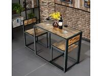 Compact Dining Table & 2 Chairs