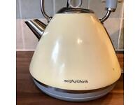 Morphy Richards Accents cream pyramid kettle and toaster