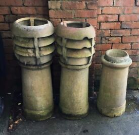 x3 used chimney pots