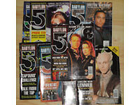 8x Babylon 5 Sci-Fi Magaazines Early Vol 1 and Vol 2 Editions 1997 - 1998 Job Lot w/ FREE Gifts