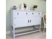 Painted Wooden Vintage Sideboard Dresser Cupboard Cabinet
