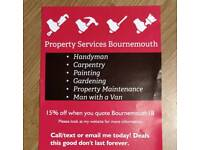 Handyman, gardener, carpenter, man with a van, property maintenance covering Bournemouth and Poole