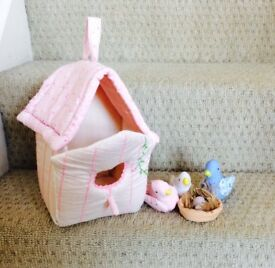 Bird house soft toy