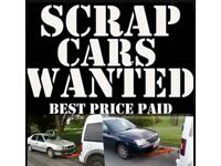Unwanted/scrap cars wanted - cash waiting