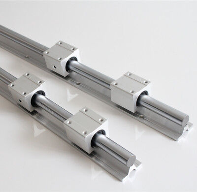 2pcs Sbr16 300-2000mm Linear Slide Rail Guide With 4 Sbr16uu Bearing Block