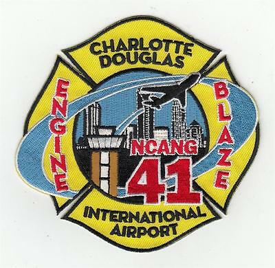 NC Charlotte Douglas International Airport Engine NCANG Blaze 41 Patch
