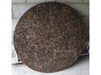 Kitchen worktop/tabletop circular granite slab in Baltic brown