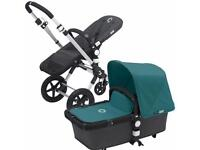 Bugaboo Cameleon 2 with Carrycot (with Cameleon 3 petrol blue fabrics)