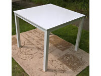 Ex-display Santo White Wooden Square Dining Table