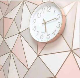 Geometric Rose Gold Wallpaper