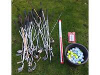 35 Golf Clubs and 135+ Golf Balls