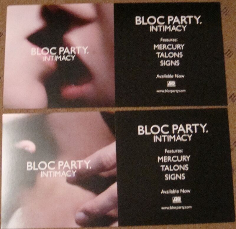 BLOC PARTY INTIMACY ALBUM 12X24 PROMO POSTER CD DOUBLE-SIDED