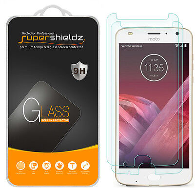 2X Supershieldz Motorola Moto Z2 Play Tempered Eyeglasses Screen Protector Saver