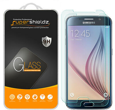 2X Supershieldz Tempered Glassware Screen Protector Saver For Samsung Galaxy S6