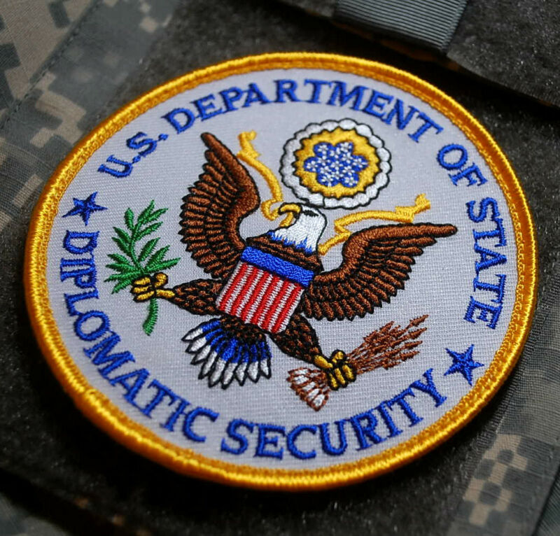 U.S DEPARTMENT OF STATE EMBASSY Diplomatic Security Services DSS vêlkrö INSIGNIA
