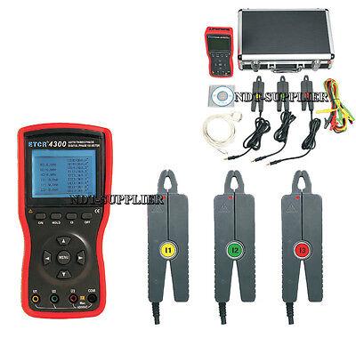 Brand New Etcr4300 Three Phase Digital Phase Volt-ampere Meter Tester 7.5mm