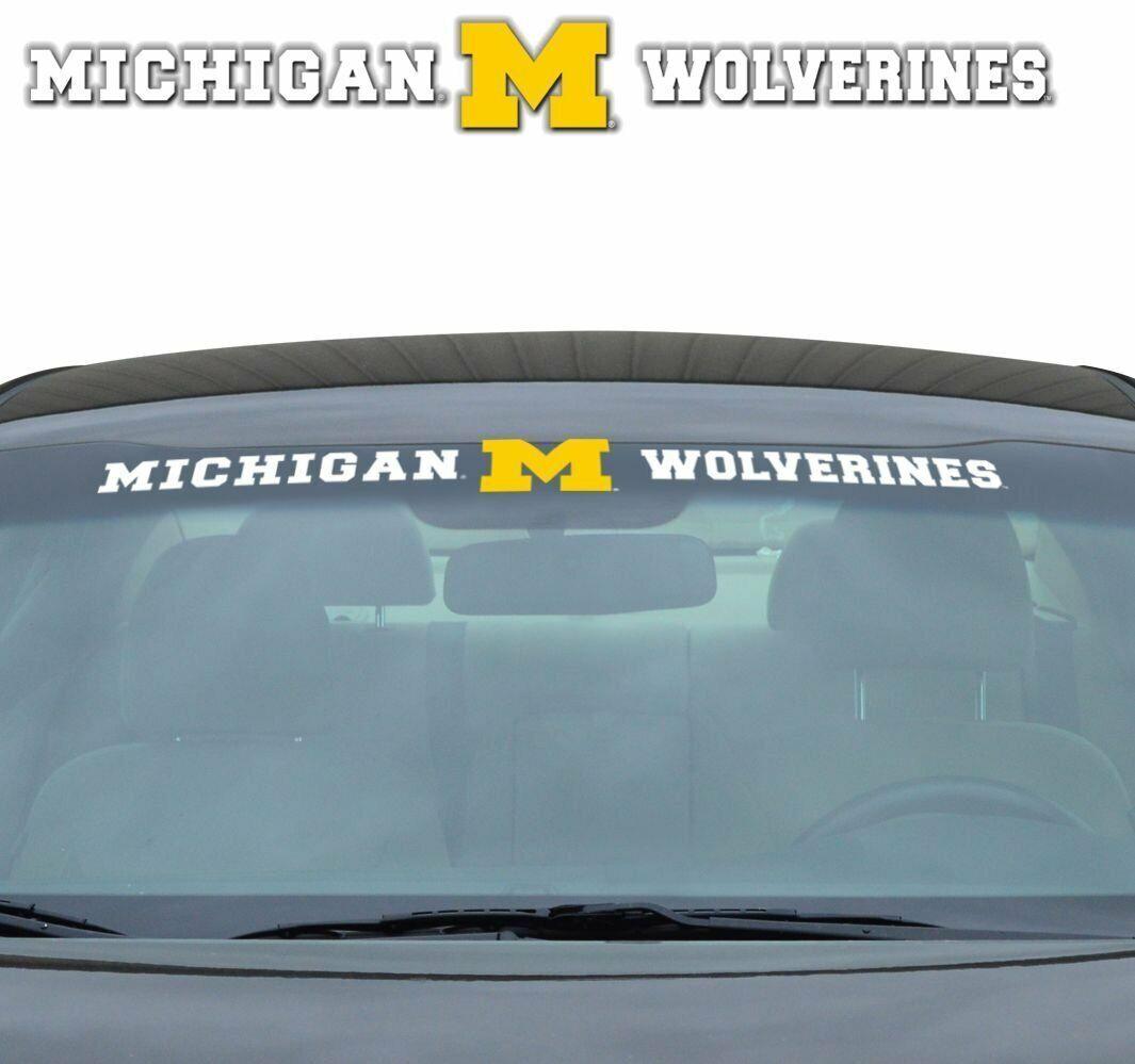 Michigan Wolverines Car Decal 6 Size Logo Truck Emblem Windows Laptops Michigan Wolverines Bumper Sticker