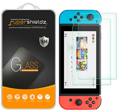 2-Pack Supershieldz for Nintendo Switch Tempered Glass Screen Protector Saver