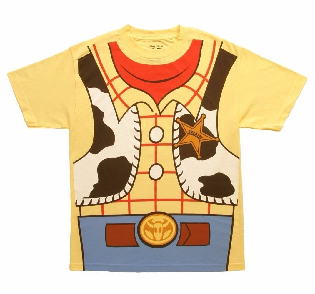 Toy Story Woody I Am Costume Disney Licensed Adult Shirt S